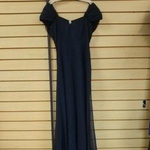 Dresses & Skirts - Navy elegant semi formal dress with bow.